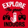 Explore the great indoors 2clr - Mannen T-shirt