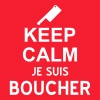 keep calm je suis boucher - T-shirt Homme