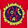 blume love and peace, hippie tattoo style - T-shirt herr