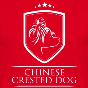 CHINESE CRESTED DOG COAT OF ARMS - Men's T-Shirt