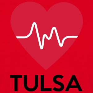 heart Tulsa - Men's T-Shirt