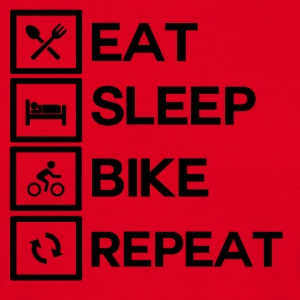 Bike Rythm - Eat Sleep Bike Repeat - Men's T-Shirt