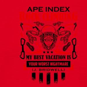 ApeIndexRockClimbing BlackRed - Men's T-Shirt