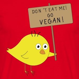 VEGAN Küken | Don´t eat me | Fun Shirt Veganer - Männer T-Shirt