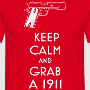 1911 fan t-shirt keep calm preppers shooters - T-shirt Homme