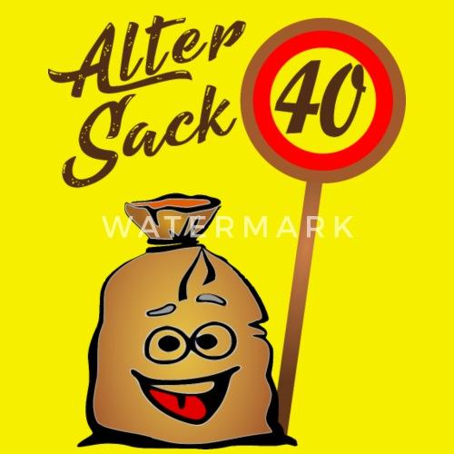 Alter Sack 40 Geburtstag 40 Vierzig Manner T Shirt Spreadshirt