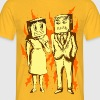 Paper Bag Face Mask - Men's T-Shirt