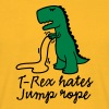 T-Rex hates jump rope - Men's T-Shirt