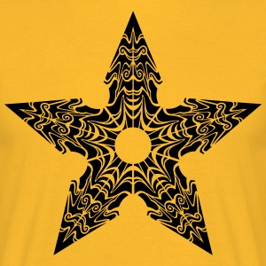 Ninja Star stiliserade - T-shirt herr