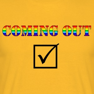 Coming out 1 - Men's T-Shirt