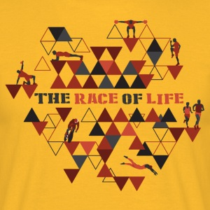 TheRaceOfLife - Herre-T-shirt