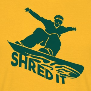 SHRED IT - Boarder Macht - Mannen T-shirt