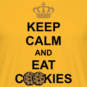 keep calm and eat cookies krone koenig poster cook