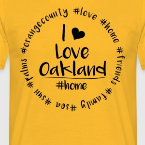 I love Oakland - Orange County - Männer T-Shirt