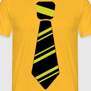 tie yellow - Men's T-Shirt