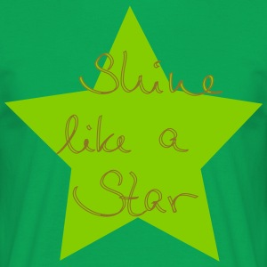 shine like a star - Männer T-Shirt