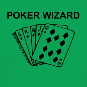 Poker Wizard - T-skjorte for menn