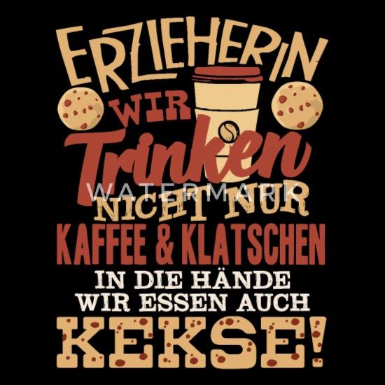Erzieherin Spruch Kindergärtnerin Kindergarten Rucksack Schwarz
