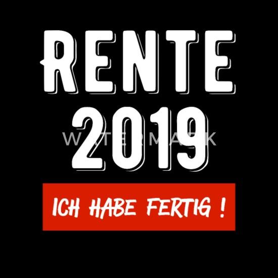 Rentner 2019 Rente Pension Ruhestand Kollege Opa Rucksack Schwarz