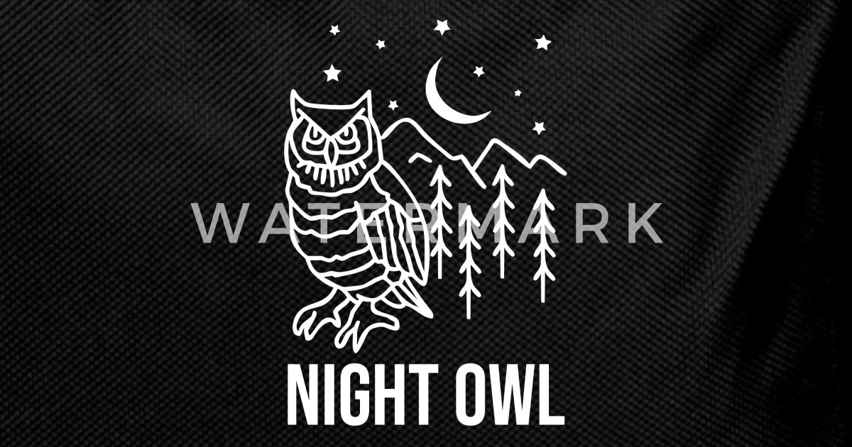 Natt uggla bohemian boho uggla uggla fågel gåva Ryggsäck