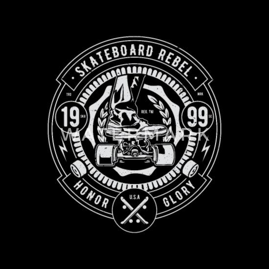 Skateboard Rebel Sk8 Sk8er Skating Ryggsekk   Spreadshirt