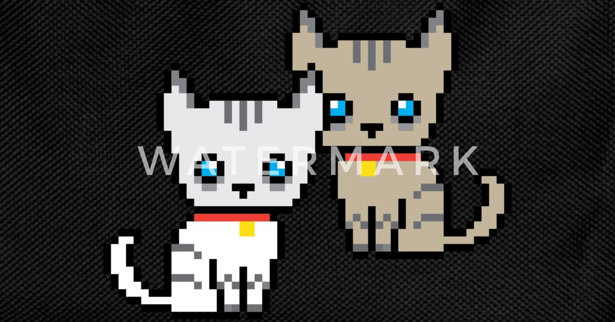 Deux Chats Pixel Sac à Dos Enfant Spreadshirt