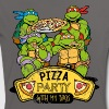 Tortues Ninja Pizza Party With My Bros - T-shirt contrasté Femme