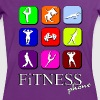 Fitness phone - Camiseta contraste mujer