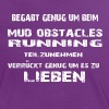 Mud Obstacle Running - Frauen Kontrast-T-Shirt