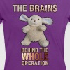 The Brains behind the operation - Women's Ringer T-Shirt