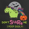 Don't scare me, I poop easily! - Frauen Kontrast-T-Shirt