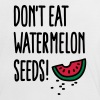 Don't eat watermelon seeds - Vrouwen contrastshirt