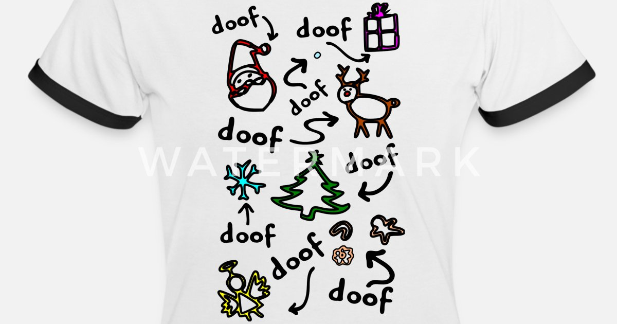 lustiges Weihnachtsgeschenk alles doof Strich von xsylx   Spreadshirt