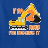 Excavator construction worker child birthday boy 2 years - Kids' T-Shirt