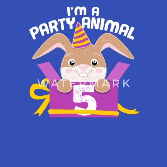 Kindergeburtstag 5 Jahre Geburtstag Hase Geschenk Kinder T Shirt