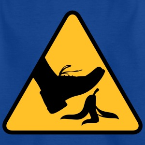 Risk Of Slipping With A Banana - Kids' T-Shirt