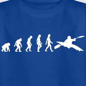 Die Evolution des Kayaking - Kinder T-Shirt