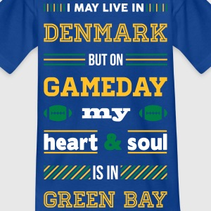 I may live in Denmark... (Green Bay edition) - Børne-T-shirt