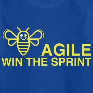 BE AGILE WIN DE SPRINT - Kinderen T-shirt