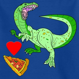 Vector Love Pizza - Kinderen T-shirt