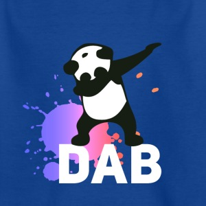dab spatter panda dabbing touchdown fun cool LOL - Kids' T-Shirt