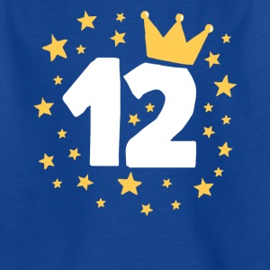 Födelsedagsbarnet 12 år Prince Princess Crown - T-shirt barn