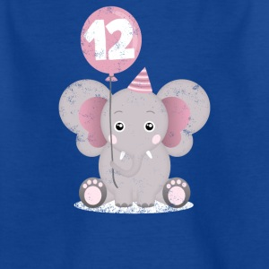 Child birthday elephant 12 years Sweet elephant - Kids' T-Shirt
