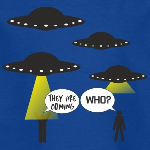 The Martians invade us in silence - Kids' T-Shirt
