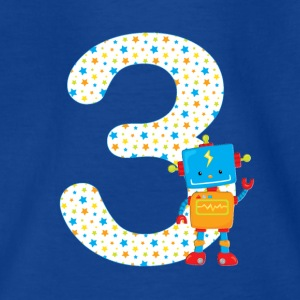 Birthday number 3 robot - Kids' T-Shirt
