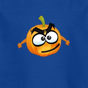 Pumpkin Glad Thanksgiving T-shirt emoji tegneserie joke - Børne-T-shirt
