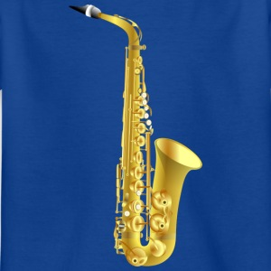golden saxophone - Kids' T-Shirt
