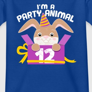 Children's birthday 12 years birthday bunny gift - Kids' T-Shirt