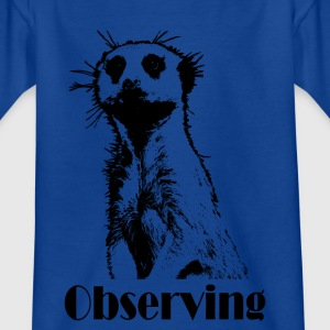 Meerkats Observation dark - T-shirt barn