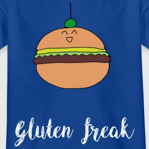 Gluten freak hamburger humor t-shirt white - Kids' T-Shirt